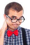 Disappointed nerd man Royalty Free Stock Photo