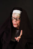 Disappointed nun wagging her finger Royalty Free Stock Photography