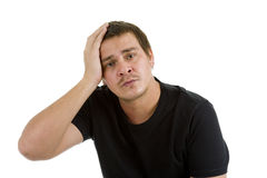 Disappointed, sad man Stock Image