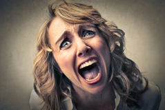 Disappointed sad woman Royalty Free Stock Image