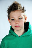Disappointed teenager. Portrait of a disappointed teenager boy Royalty Free Stock Images