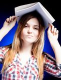 Disappointed and upset young girl, symbol of school problems Stock Image