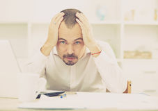 Disappointed worker feeling stressed Stock Photography
