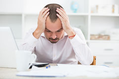 Disappointed worker feeling stressed Royalty Free Stock Photo