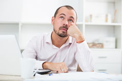 Disappointed worker feeling stressed Royalty Free Stock Images