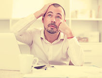 Disappointed worker feeling stressed Stock Image