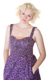 Disappointed Young Blond Woman royalty free stock photo