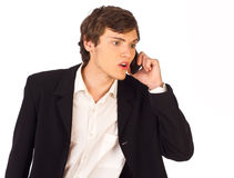 Disappointed young business man Stock Photo