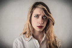 Disappointed young woman Royalty Free Stock Photo