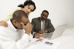 Disappointing Meeting With Accountant Stock Images