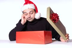 Disappointing present Royalty Free Stock Image