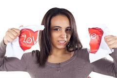 Disappointment in love. For young womanlove Royalty Free Stock Image