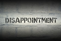 Disappointment WORD GR Stock Photography