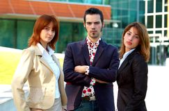 Disapproval. A team of three business people show their disapproval toward an idea Stock Photos