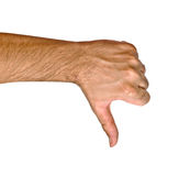 Disapproval gesture. Close up of disapproval gesture Royalty Free Stock Photo