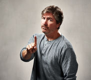 Disapproval man portrait Royalty Free Stock Images