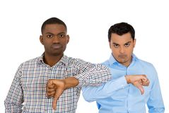 Disapproval of offer by two coworkers Royalty Free Stock Photo