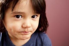 Disapproving Toddler Boy Stock Images