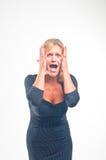 Disappunto e panico Fotografie Stock Libere da Diritti