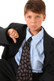Disaproving Boy Royalty Free Stock Photography