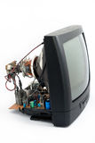 Disassemble crt television. On a white background Stock Photo