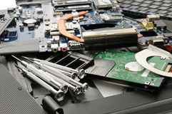 Disassemble the laptop Royalty Free Stock Image