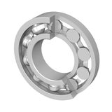 The disassembled ball bearing Royalty Free Stock Photo