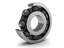 Disassembled ball bearing Stock Image
