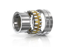 Disassembled bearing on a white background. We see components Royalty Free Stock Images