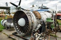 Disassembled broken aircraft engines Royalty Free Stock Photos