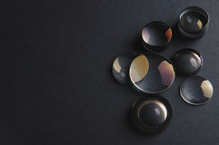 Disassembled camera lenses Stock Images