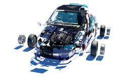 Disassembled car. Royalty Free Stock Images