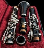 Clarinet in its case stock photo