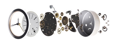Disassembled the clock Stock Image