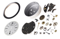 Disassembled the clock Stock Photo