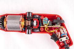 Disassembled Drill Royalty Free Stock Photos