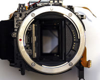 Disassembled DSRL lens insert close-up view Stock Photo