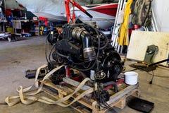 Disassembled engine Stock Photos