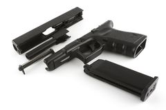 Disassembled firearm Stock Photo