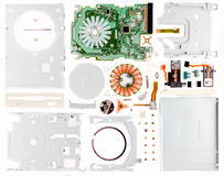 Disassembled floppy. On a part stock photo