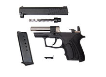 Disassembled fort-10r traumatic gun Stock Images