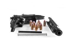 Disassembled Gun Royalty Free Stock Image