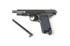 Disassembled gun,  Royalty Free Stock Photography