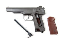 Disassembled gun,  Royalty Free Stock Images