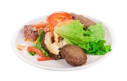 Disassembled hamburger Stock Photo