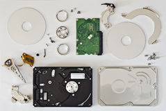 Disassembled hard disc Royalty Free Stock Photos