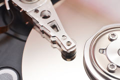 Disassembled hard disk drive Stock Images