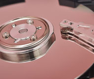 Disassembled hard disk drive Royalty Free Stock Images