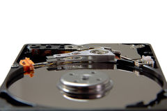 Disassembled hard drive. Part of laptop Stock Photography