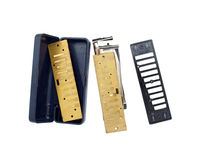 Disassembled harmonica Stock Photo